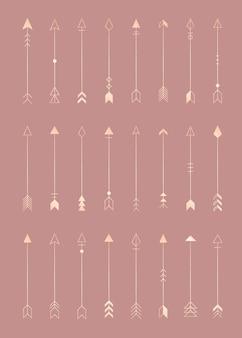 Éléments d'icônes de flèche