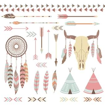 Éléments indiens tribaux
