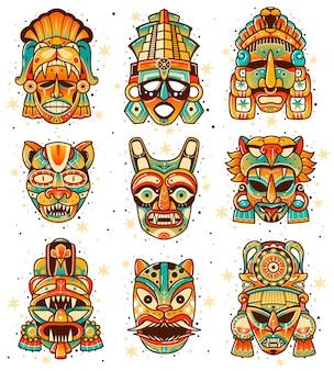 Éléments indigènes inca amérindiens ethniques