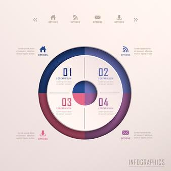 Éléments d'infographie anneau 3d abstrait réaliste