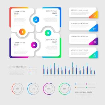 Éléments d'infographie au design plat