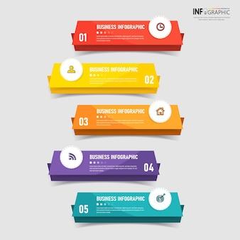 Éléments d'infographie commerciale colorés