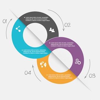 Éléments d'infographie dans un style d'affaires plat moderne.