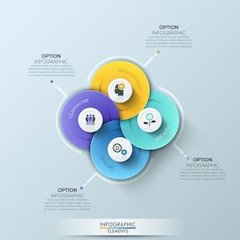 Éléments d'infographie entreprise cercle moderne