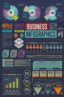 Éléments d'infographie de l'entreprise.