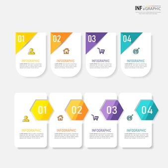 Éléments d'infographie d'entreprise