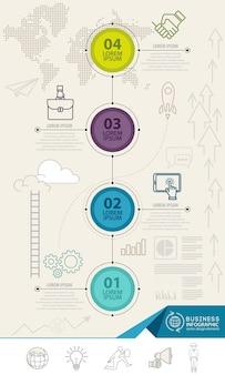 Éléments d'infographie avec des icônes de l'entreprise