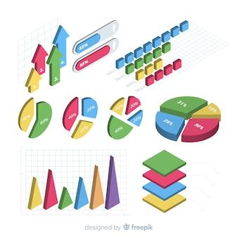 Éléments d'infographie avec perspective isométrique