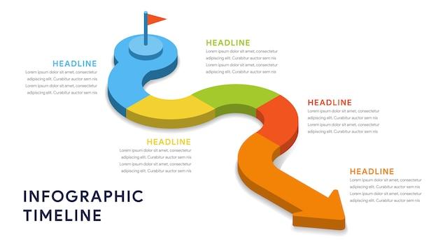Éléments d'infographie pour les étapes, la chronologie et le flux de travail