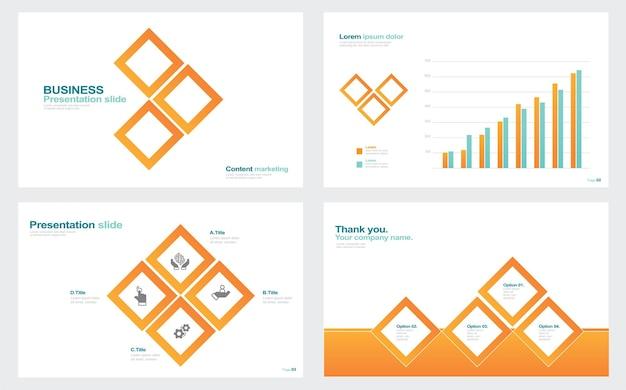 Éléments d'infographie pour les modèles de présentation stock illustration conseils abstraits visant annuelle