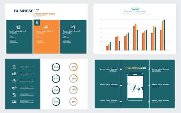 Éléments d'infographie pour les modèles de présentations illustration stock diaporama infographique