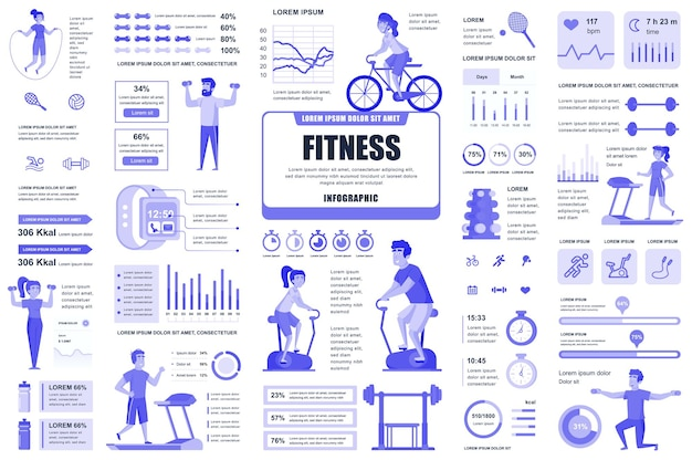 Éléments D'infographie De Remise En Forme Et De Sport ...