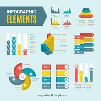 Eléments d'infographie avec style coloré