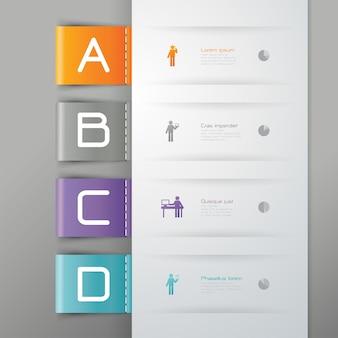 Éléments infographiques d'affaires de 4 étapes pour la présentation