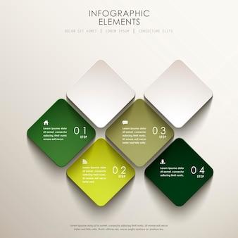Éléments infographiques de balise 3d abstrait réaliste