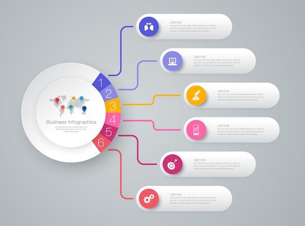 Éléments infographiques de chronologie pour la présentation