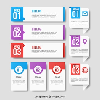 Éléments infographiques avec des conceptions différentes