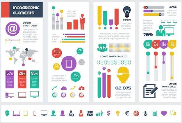 Éléments infographiques de l'industrie informatique