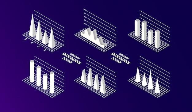 Éléments infographiques isométriques