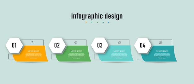 Éléments infographiques plats de conception de modèle