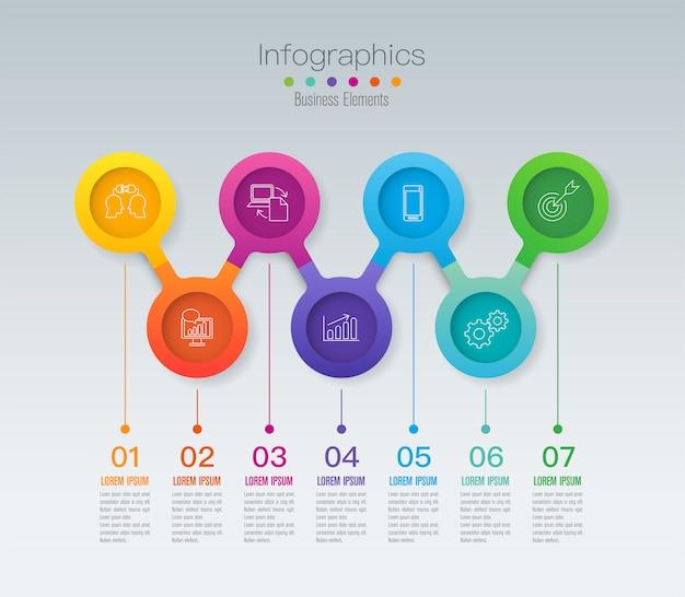 Éléments infographiques de la timeline