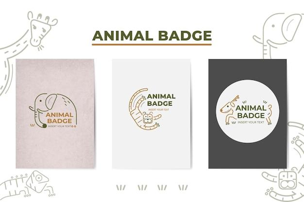Éléments d'insigne d'animaux