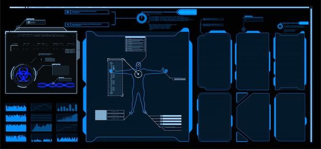 Éléments d'interface hud, ui, gui. ensemble de titres de légende. étiquettes de barre de légende futuristes, barres de boîte d'appel d'informations et modèles de disposition de boîtes d'informations numériques modernes. titres de légendes dans le style hud.