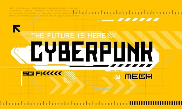 Éléments de l'interface utilisateur moderne cyber punk hud abstrait futuriste