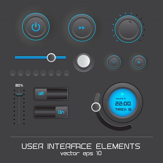 Éléments de l'interface utilisateur web