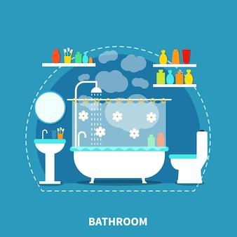 Éléments intérieurs de salle de bain