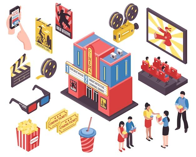 Éléments isométriques du théâtre de cinéma