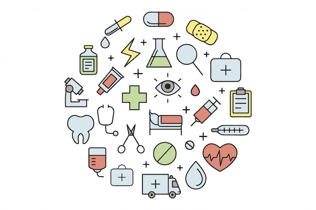 Éléments de jeu linéaire de médical
