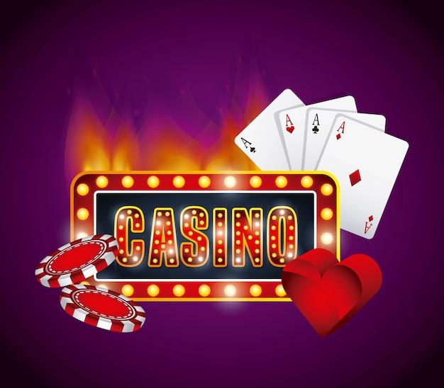 Éléments de jeux de casino isolés icône design de vecteurs d'illustration vectorielle