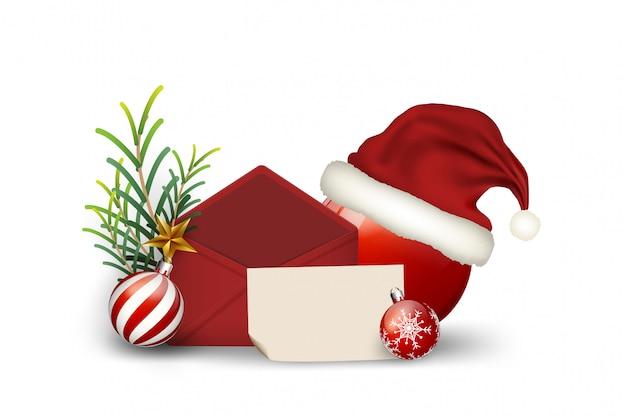 Éléments de lettre noël, voeux fond joyeux noël et bonne année vintage ca