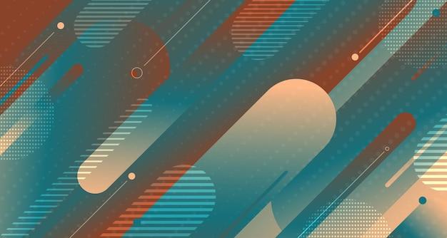 Éléments de ligne arrondie dégradé coloré abstrait forme fond