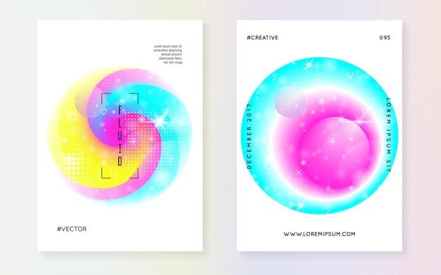 Éléments liquides. dégradé holographique moderne, flou, maillage, mélange. hologramme en couches pop. affiche douce. cadre numérique. contexte futuriste. éléments liquides avec des formes et fluides.