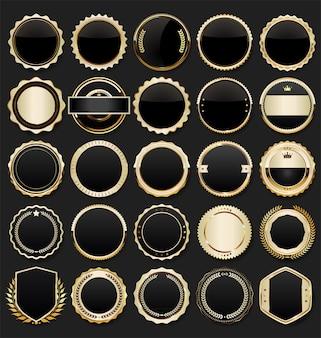 Éléments de luxe premium en or