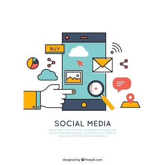 Éléments médias mobiles et sociaux