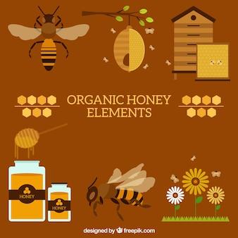 Éléments de miel bio