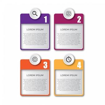 Éléments de modèle d'infographie 3d simples