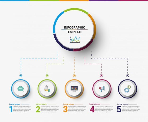Éléments de modèle infographique affaires