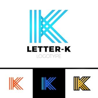 Éléments de modèle lettre k logo icon design