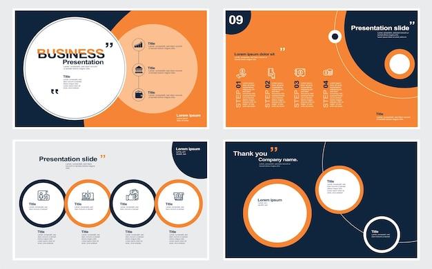 Éléments de modèles de présentation sur fond blanc infographie vectorielle illustration stock