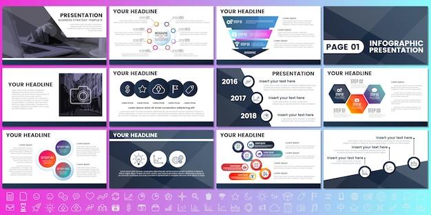 Éléments modernes de l'infographie pour les présentations