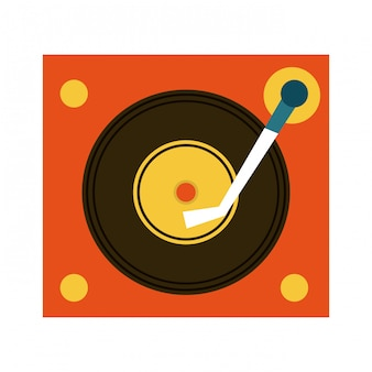 Éléments de musique avec illustration vectorielle plat design