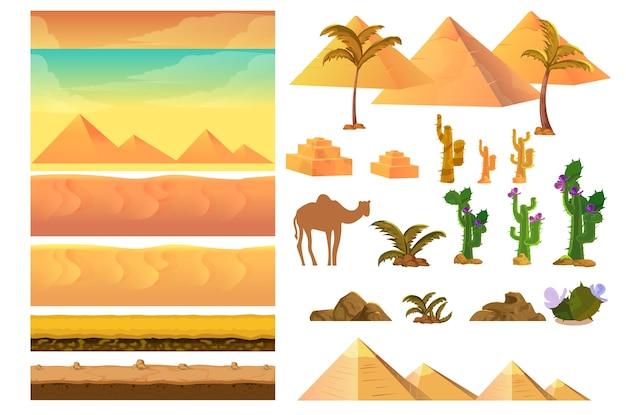 Éléments de paysage du désert