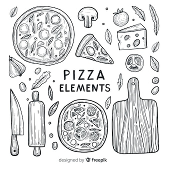 Éléments de pizza
