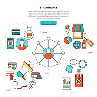 Éléments plat e-commerce