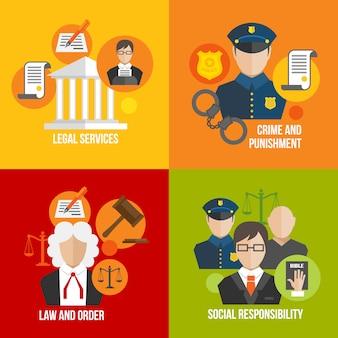 Éléments plats de la loi