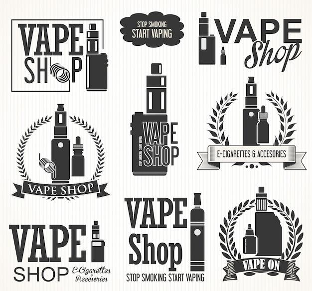 Éléments pour la collection de cigarettes électroniques vapor bar et vape shop